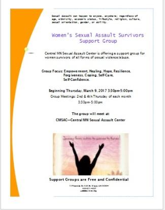 Women Support Group Flyer