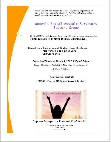 Women Support Group Flyer