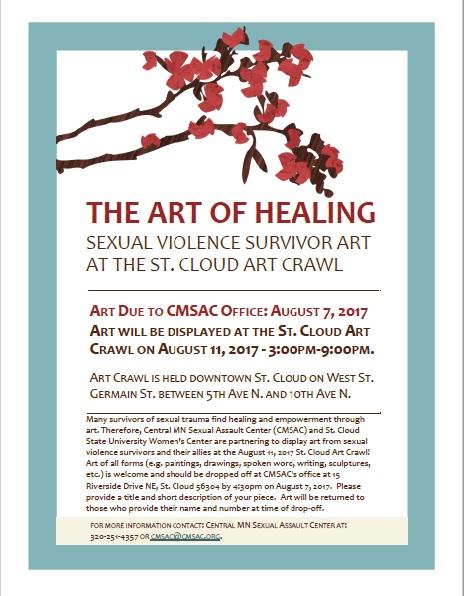 The Art of Healing Art Crawl Flyer