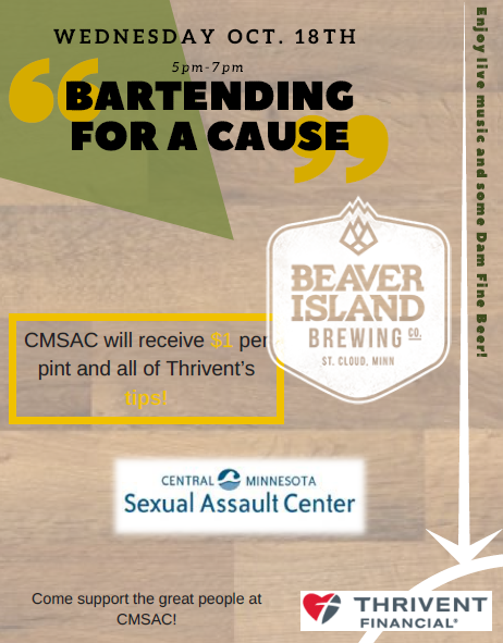 Bartending for a Cause Flyer