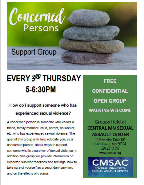 NEW Concerned Person Support Group Flyer