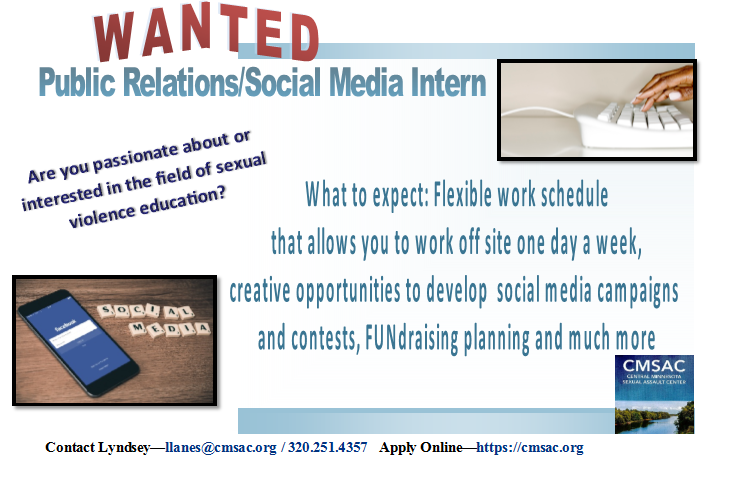 PR Intern Flyer Photo