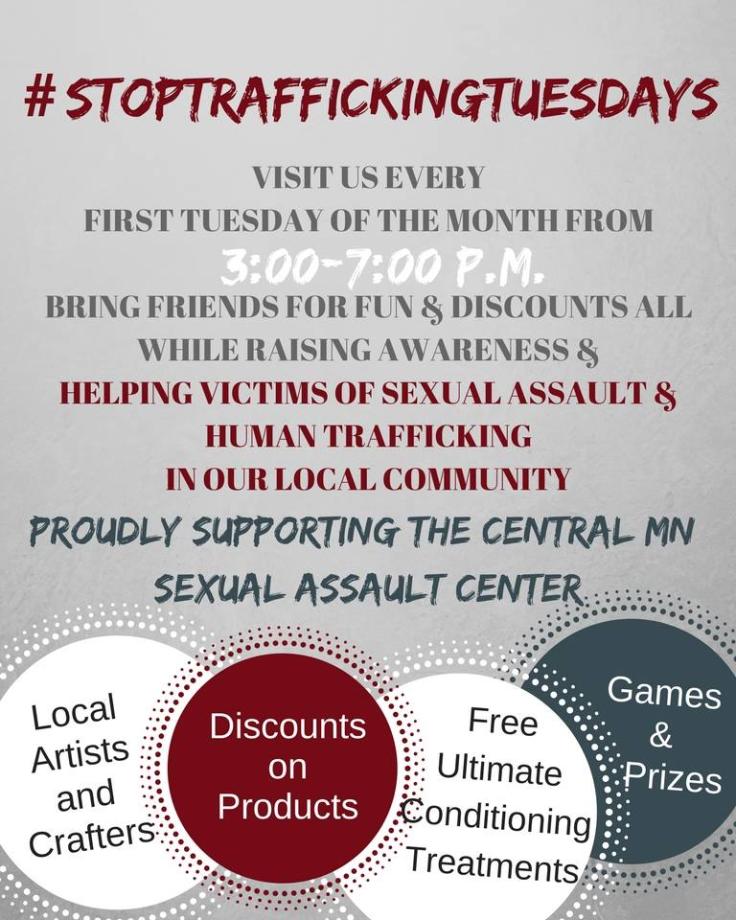 #StopTraffickingTuesdays Shear Flyer