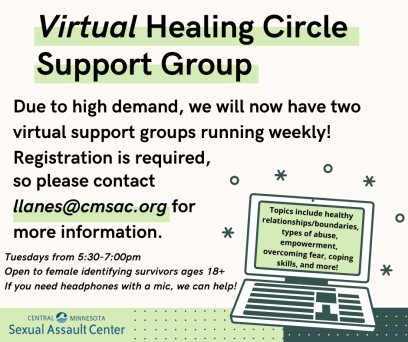 Virtual Healing Circle Flyer Most Updated