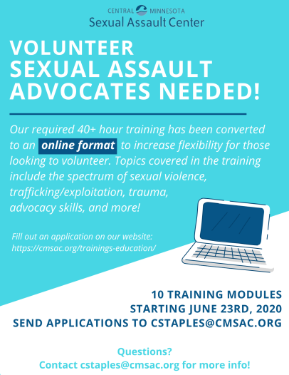 Volunteer Sexual Assault Advocates Needed! (1)