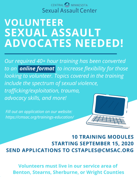 Volunteer Sexual Assault Advocates Needed! (2)