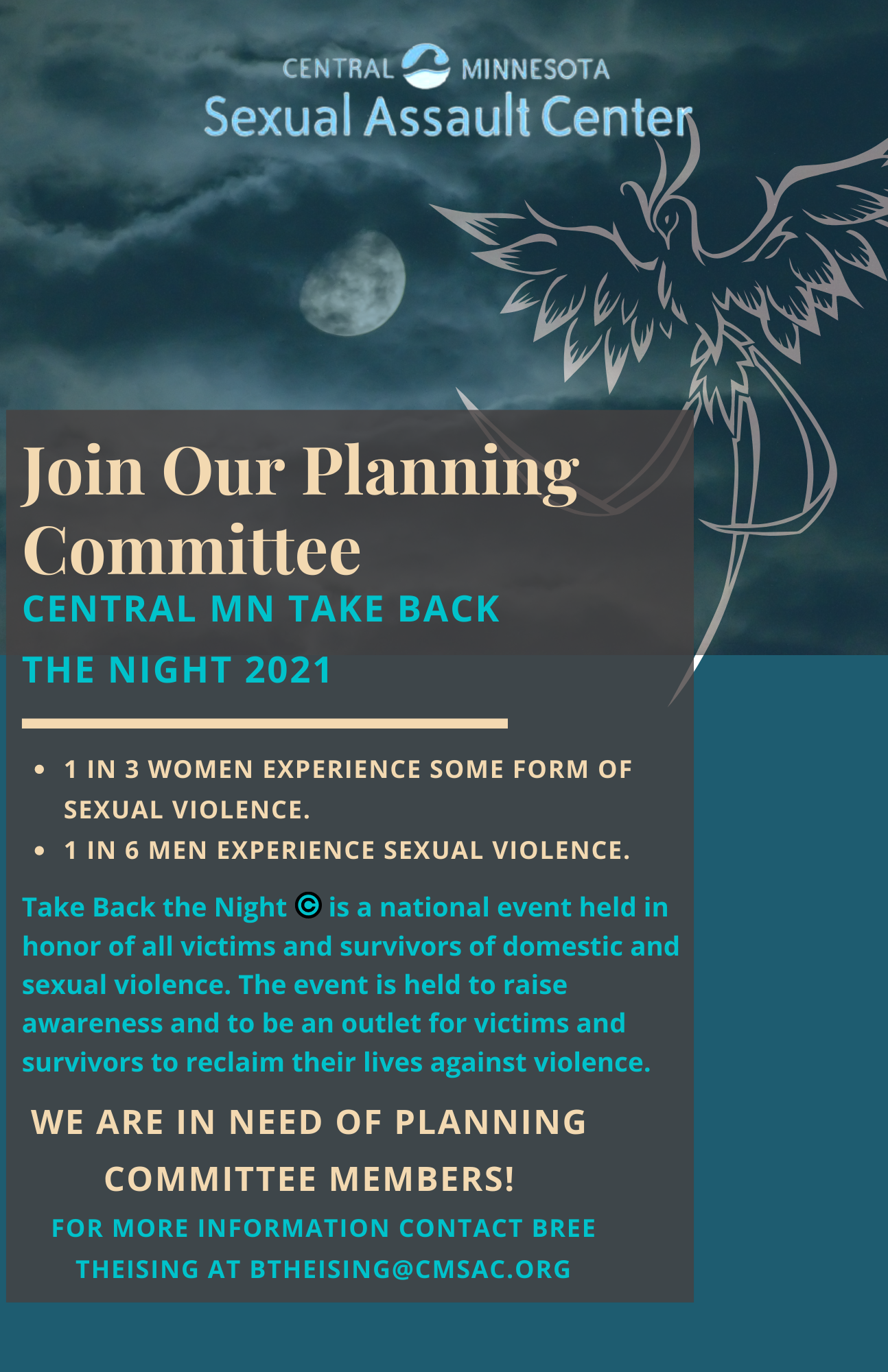 Take Back the Night 2021 Flyer